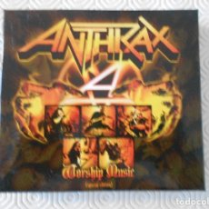CDs de Música: ANTHRAX. WORSHIP MUSIC. (SPECIAL EDITION). CAJA CON 2 CD'S. . Lote 178926585