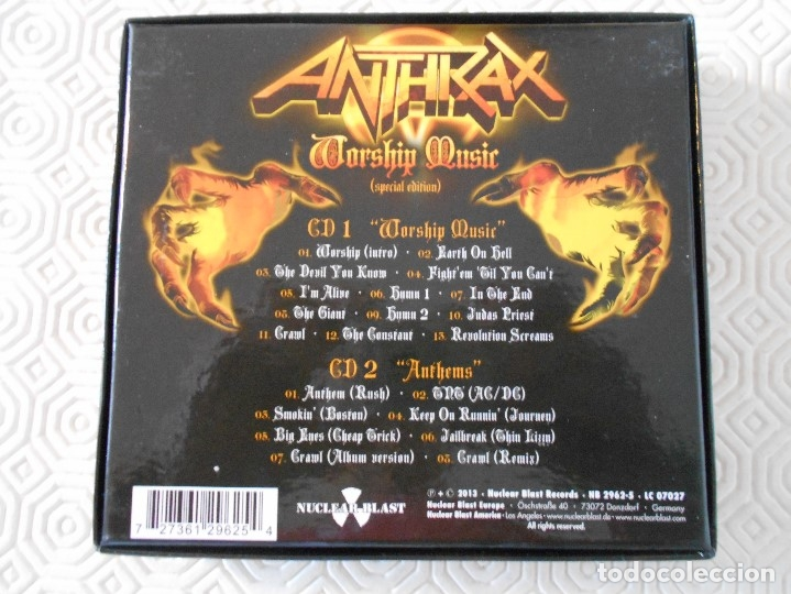 CDs de Música: ANTHRAX. WORSHIP MUSIC. (SPECIAL EDITION). CAJA CON 2 CD'S. - Foto 2 - 178926585