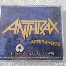CDs de Música: ANTHRAX. AFTERSHOCK. THE ISLAND YEARS 1985 - 1990. CAJA CON 4 COMPACTOS.. Lote 178926773