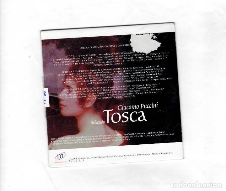 CDs de Música: GRANDES ÓPERAS GIACOMO PUCCÍNÍ ( TOSCA) -NUEVO - Foto 2 - 140569790