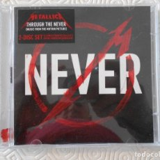 CDs de Música: METALLICA. NEVER. DOBLE COMPACTO CON 17 CANCIONES. THROUGH THE NEVER.. Lote 178927403