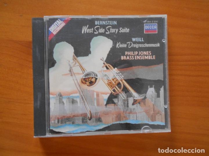 CD WEST SIDE STORY - SUITE / KLEINE DREIGROSCHENMUSIK - PHILIP JONES BRASS ENSEMBLE (EQ) (Música - CD's Jazz, Blues, Soul y Gospel)