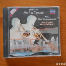 CDs de Música: CD WEST SIDE STORY - SUITE / KLEINE DREIGROSCHENMUSIK - PHILIP JONES BRASS ENSEMBLE (EQ). Lote 178931351