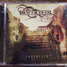 CDs de Música: SKIZOO , INCERTEZA , CD+DVD , 2007 ESTADO IMPECABLE, HEAVY NACIONAL . Lote 178932743