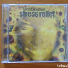 CDs de Música: CD MEDITAINMENT - STRESS RELIEF (FQ). Lote 178933868
