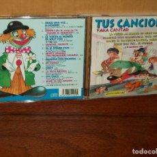 CDs de Música: TUS CANCIONES PARA CANTAR VOLUMEN Nº 1 - CD 12 CANCIONES INFANTILES. Lote 178960493