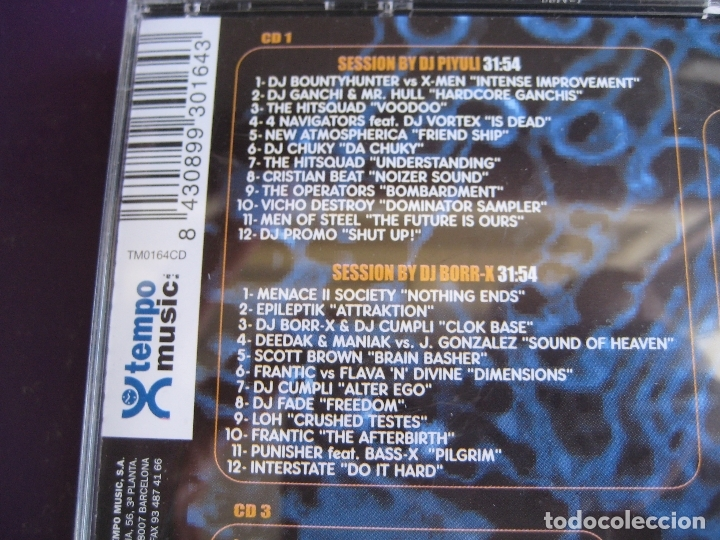 CDs de Música: Tekno Hardcore Sessions TRIPLE CD TEMPO MUSIC 2000 - MAKINA HARDCORE - MUY POCO USO - Foto 3 - 178971895