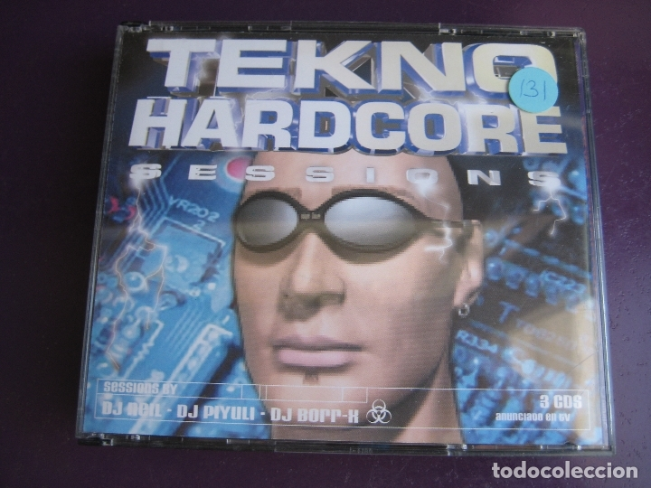TEKNO HARDCORE SESSIONS TRIPLE CD TEMPO MUSIC 2000 - MAKINA HARDCORE - MUY POCO USO (Música - CD's Techno)