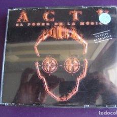 CDs de Música: ACTV - EL TERCER MILENIO TRIPLE CD CONTRASEÑA 1999 - TEKNO MAKINA - LIGERAS SEÑALES DE USO. Lote 178972325