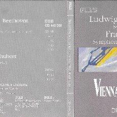 CDs de Música: BEETHOVEN SINFONÍA 5 Y SCHUBERT SINFONÍA 8 - VIENNA MASTER SERIES. Lote 178989062