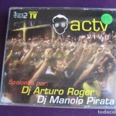 CDs de Música: ACTV VIVE TRIPLE CD CONTRASEÑA 2001 - HOUSE TRANCE MAKINA - POCO USO. Lote 178992128