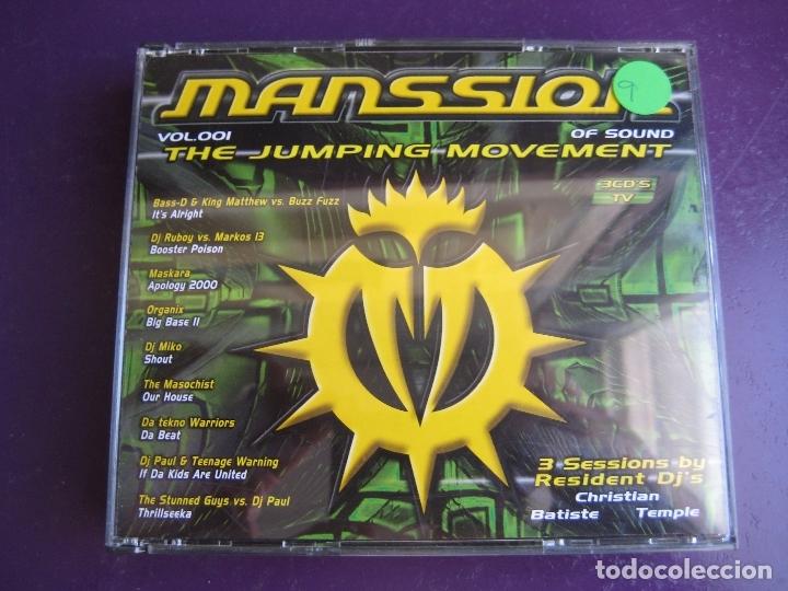 MANSSION OF SOUND VOL. 001 TRIPLE CD BIT MUSIC 2000 - THE JUMPING MOVEMENT - HARDCORE MAKINA JUMPING (Música - CD's Techno)