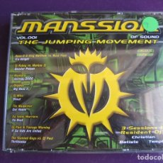 CDs de Música: MANSSION OF SOUND VOL. 001 TRIPLE CD BIT MUSIC 2000 - THE JUMPING MOVEMENT - HARDCORE MAKINA JUMPING. Lote 178992255
