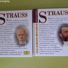 CDs de Música: STRAUSS LA GRAN MÚSICA PASÓ A PASO CD DISCOLIBRO BIOGRÁFICO 2011 DEUTSCHE GRAMMOPHON POLYGRAM. Lote 179007470