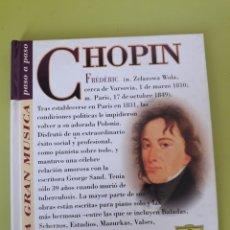 CDs de Música: CHOPIN LA GRAN MÚSICA PASÓ A PASO CD DISCOLIBRO BIOGRÁFICO 2011 DEUTSCHE GRAMMOPHON POLYGRAM. Lote 179007780