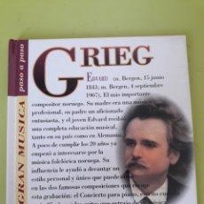 CDs de Música: GRIEG LA GRAN MÚSICA PASÓ A PASO CD DISCOLIBRO BIOGRÁFICO 2011 DEUTSCHE GRAMMOPHON POLYGRAM. Lote 179007860