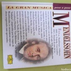 CDs de Música: MENDELSSOHN LA GRAN MÚSICA PASÓ A PASO CD DISCOLIBRO BIOGRÁFICO 2011 DEUTSCHE GRAMMOPHON POLYGRAM. Lote 179008072