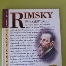 CDs de Música: RIMSKY LA GRAN MÚSICA PASÓ A PASO CD DISCOLIBRO BIOGRÁFICO 2011 DEUTSCHE GRAMMOPHON POLYGRAM. Lote 179008407