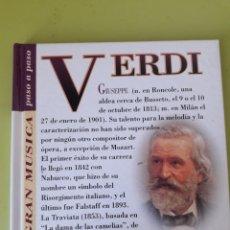 CDs de Música: VERDI LA GRAN MÚSICA PASÓ A PASO CD DISCOLIBRO BIOGRÁFICO 2011 DEUTSCHE GRAMMOPHON POLYGRAM. Lote 179008702