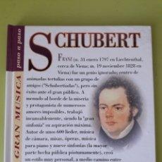 CDs de Música: SCHUBERT LA GRAN MÚSICA PASÓ A PASO CD DISCOLIBRO BIOGRÁFICO 2011 DEUTSCHE GRAMMOPHON POLYGRAM. Lote 179008802