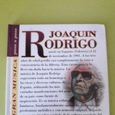 CDs de Música: JOAQUÍN RODRIGO LA GRAN MÚSICA PASÓ A PASO CD DISCOLIBRO BIOGRÁFICO 2011 DEUTSCHE GRAMMOPHON POLYGRA. Lote 179008908