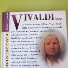 CDs de Música: VIVALDI LA GRAN MÚSICA PASÓ A PASO CD DISCOLIBRO BIOGRÁFICO 2011 DEUTSCHE GRAMMOPHON POLYGRAM. Lote 179008991