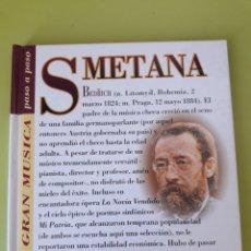 CDs de Música: SMETANA LA GRAN MÚSICA PASÓ A PASO CD DISCOLIBRO BIOGRÁFICO 2011 DEUTSCHE GRAMMOPHON POLYGRAM. Lote 179009072