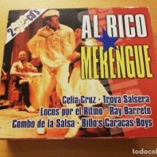CDs de Música: AL RICO MERENGUE (CELIA CRUZ / TROVA SALSERA / LOCOS POR EL RITMO / RAY BARRETO ...) 2 CD. Lote 179011048