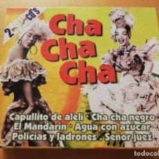 CDs de Música: CHA CHA CHA (CAPULLITO DE ALELÍ / CHA CHA NEGRO / EL MANDARÍN / AGUA CON AZÚCAR) 2 CD. Lote 179011181