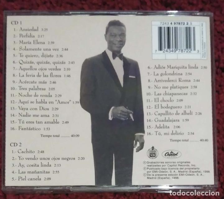 CDs de Música: NAT KING COLE (INOLVIDABLE - CANTA EN ESPAÑOL) 2 CDs 1998 - Foto 2 - 179016321