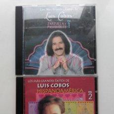 CDs de Música: LOS MAS GRANDES EXITOS DE LUIS COBOS. ZARZUELAS Y PASODOBLES. HISPANOAMERICA - VOL 1 Y 2 - CD. Lote 179017257