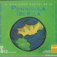 CDs de Música: LA DIVERSIDAD MUSICAL DE LA PENÍNSULA IBÉRICA CD LIBRO FNAC MILLADOIRO MUSGAÑA OSKORRI. Lote 179090026