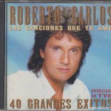 CDs de Música: ROBERTO CARLOS DOBLE CD LAS CANCIONES QUE YO AMO 1995 40 GRANDES ÉXITOS. Lote 179091378