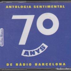CDs de Música: ANTOLOGÍA SENTIMENTAL DE RÀDIO BARCELONA CADENA SER 70 ANYS 3 CD'S 1994 INCLUYE LIBRETO. Lote 179091997