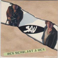 CDs de Música: SAU CD SINGLE RES SEMBLANT A RES 1996. Lote 179112325