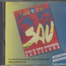 CDs de Música: SAU CD SINGLE PROMO 1992 CONCERT MONUMENTAL LA CANÇO DE LA NOIA DE L'ALTRE CANTÓ DEL BAR + 1. Lote 179112506