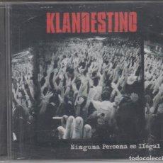 CDs de Música: KLANDESTINO CD NINGUNA PERSONA ES ILEGAL 2011 PRECINTADO. Lote 179113945