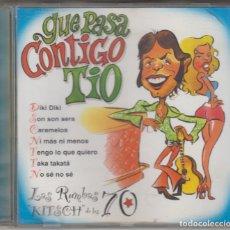 CDs de Música: QUÉ PASA CONTIGO TÍO CD LAS RUMBAS KITSCH DE LOS 70 1999 LOS CHICHOS RUMBA TRES DUKELIS LOS AMAYA. Lote 179117250