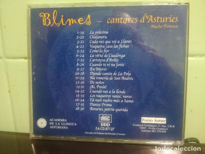 CDs de Música: CD FONO ASTUR NACHO FONSECA BLIMES CANTARES D ASTURIES ASTURIAS PEPETO - Foto 2 - 179194122