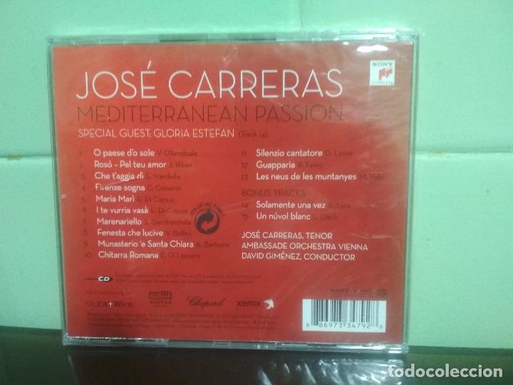 CDs de Música: JOSÉ CARRERAS - MEDITERRANEAN PASSION - CD ALBUM - 15 TRACKS SONY CLASSICAL 2008. precintado PEPETO - Foto 2 - 179197760