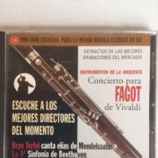 CDs de Música: MEJORES DIRECTORES, CONCIERTO PARA FAGOT DE VIVALDI. Lote 179198985