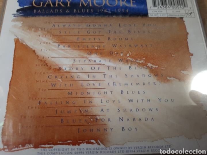 CDs de Música: GARY MOORE 1982 BALLADS AND BLUES 1994 - Foto 2 - 179202860