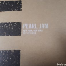 CDs de Música: PEARL JAM NEW YORK , NEW YORK JULY 8TH 2003 3CDS. Lote 179203955
