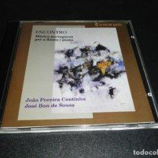 CDs de Música: ENCONTRO, MUSICA PORTUGUÉSA PER A FLAUTA I PIANO, COUTINHO, DE SOUSA. Lote 179207835