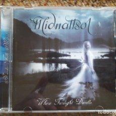 CDs de Música: MIDNATTSOL , WHERE TWILIGHT DWELLS , CD 2005 ESTADO IMPECABLE, FOLK METAL. Lote 179227416