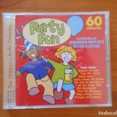 CDs de Música: CD PARTY FUN - A COLLECTION OF CHILDREN'S FAVOURITE GAMES & SONGS (Y6). Lote 179233537