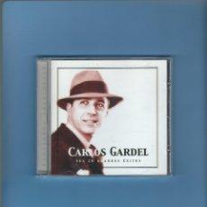 CDs de Música: CD - CARLOS GARDEL - SUS 20 MEJORES ÉXITOS. Lote 179313392