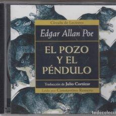 CDs de Música: EL POZO Y EL PÉNDULO CD EDGAR ALLA POE JULIO CORTÁZAR CONSTANTINO ROMERO 2001. Lote 179317878