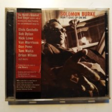 CDs de Música: SOLOMON BURKE-DON'T GIVE UP ON ME (CD.ANTI-2002)COVERS VAN MORRISON,BOB DYLAN,TOM WAITS,BRIAN WILSON. Lote 179334206