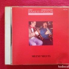 CDs de Música: CHET BAKER & CHRISTOPHER MASON - SILENT NIGHTS - ROUNDER JAPON. Lote 179344420